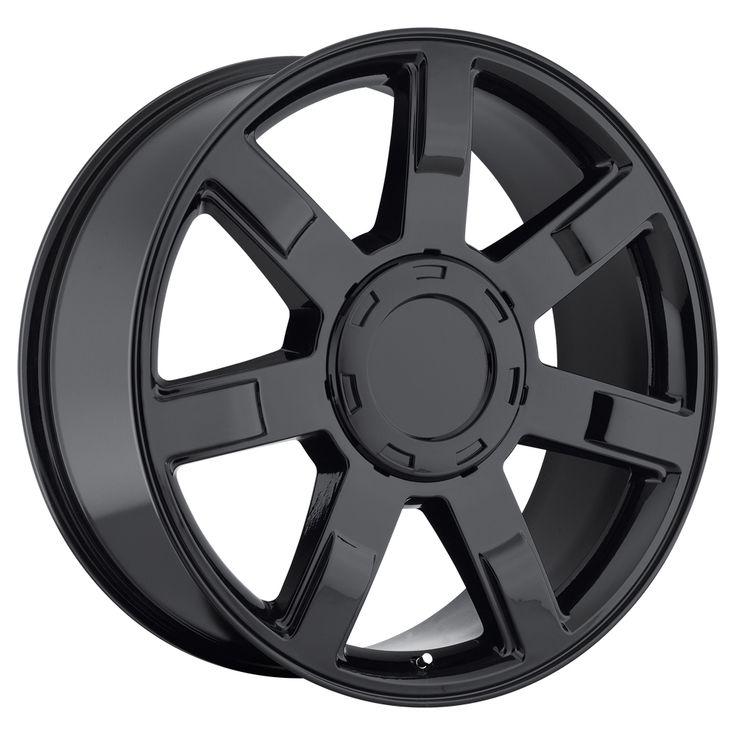 Cadillac Escalade 2007-2012 22x9 6x5.5  31 - Wheel - Gloss Black With Cap