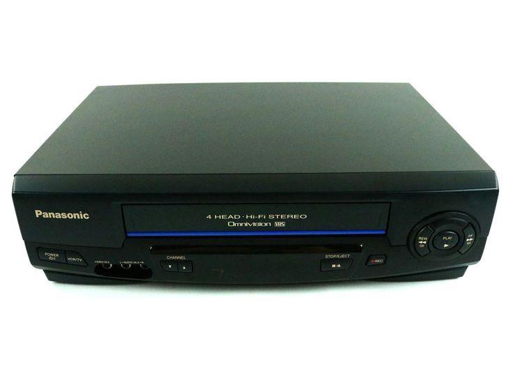 Panasonic PV-V4521 4 Head HI-FI Stereo Omnivision VHS VCR Player - TESTED #Panasonic