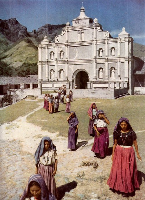 Pipil Indian women. Panchimalco, El Salvador - National Geographic  July - December 1944
