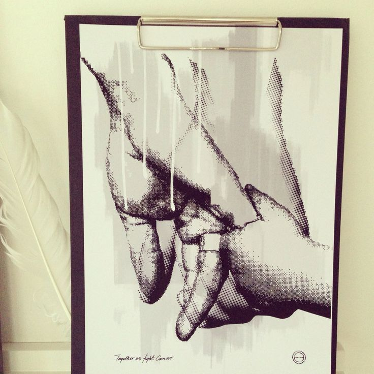 Together we fight cancer by Camilla Edfors.