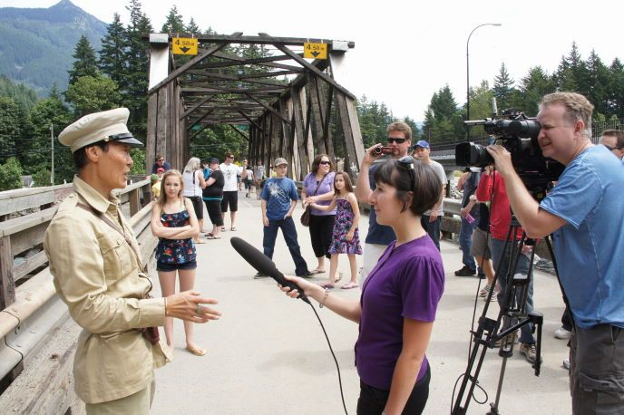 Actor Stephen Chang interviewed, Rambo Bridge Final Take in Hope BC Bid an Emotional Farewell with Nostalgic Fans As Actor Stephen Chang Promoted New Movie 'Life For Mile'. www.hopebc.ca