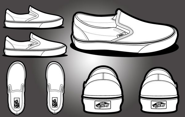 free vectors vans classic template shoe art jojo. Black Bedroom Furniture Sets. Home Design Ideas