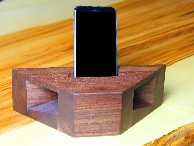 If you like to play music on your cell phone you'll find lots to love about this wooden phone amplifier. It provides an attractive platform to cradle your phone while playing music, and it boosts the sounds level by 8-10 dB (decibels) while also distributing the sound around the room using a megaphone style sound enhancement.