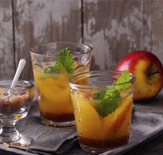 Apfel-Sanddorn-Eistee
