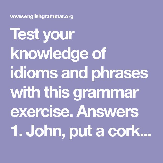 idioms and phrases exercises with answers pdf