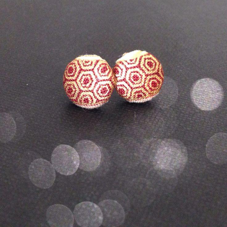 Orecchini a bottone -handmade-
