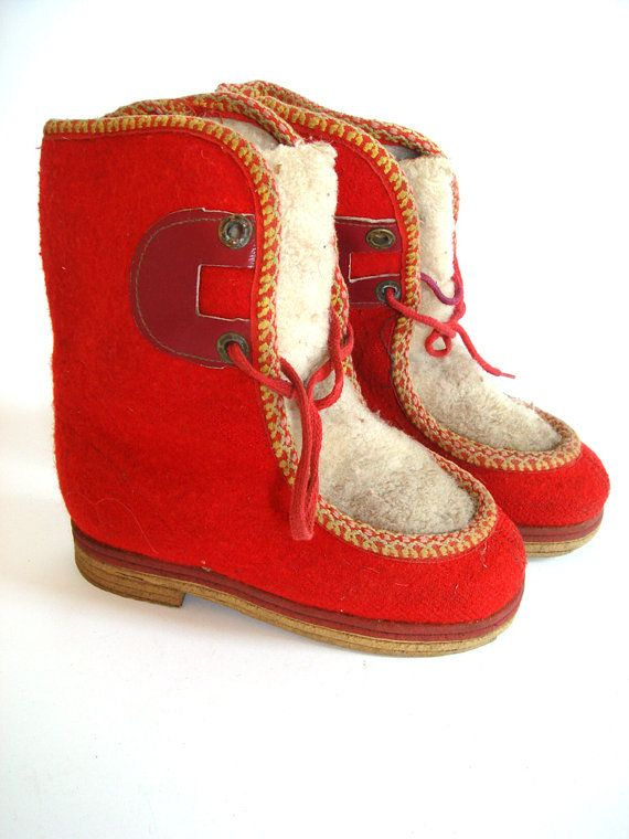 Authentic Soviet design winter boots for kids by GrandpasTreasury,