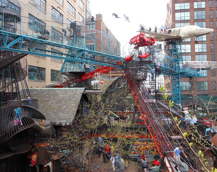 This place looks amazing, and lots of fun. City Museum: A 10-Story Former Shoe Factory Transformed into the Ultimate Urban Playground