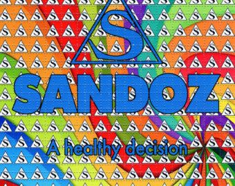 Sandoz Vial LSD 25 Color BLOTTER ART perforated acid by ZaneKesey