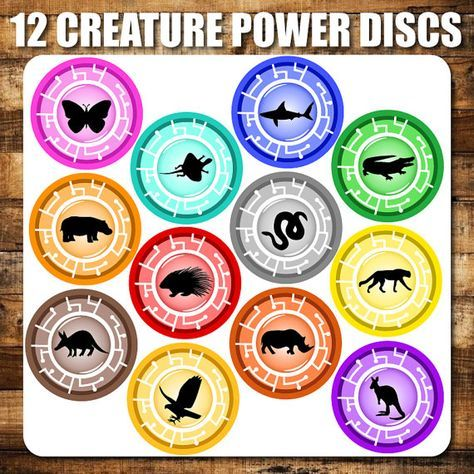 PERFECT FOR COSTUMES OR PARTIES!    These printable creature power discs are awesome. Inspired by the popular kids TV show Wild Kratts. These are