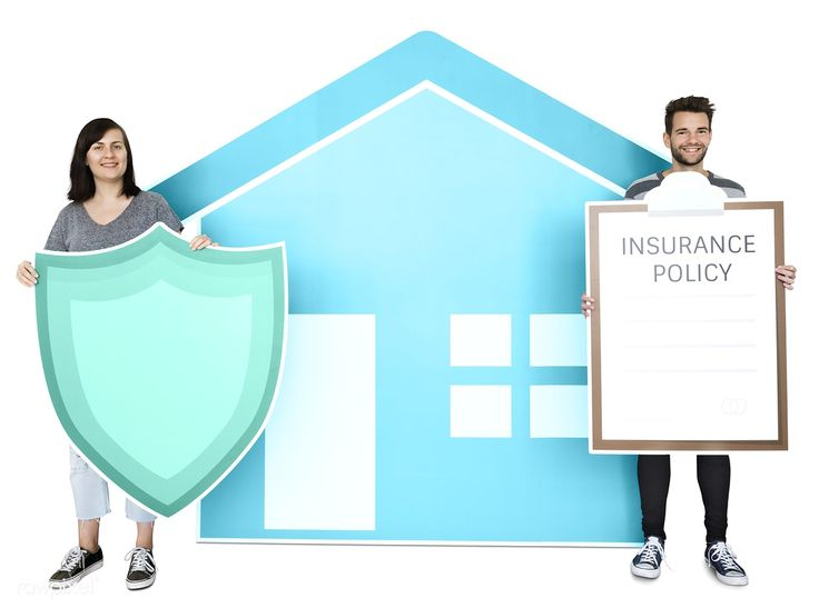 Download premium psd of people and home insurance concept