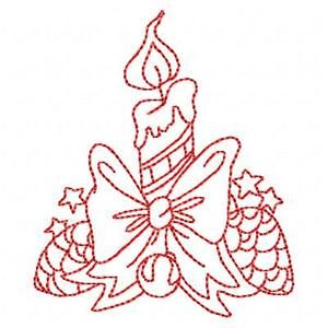 Redwork Christmas - Free Instant Machine Embroidery Designs
