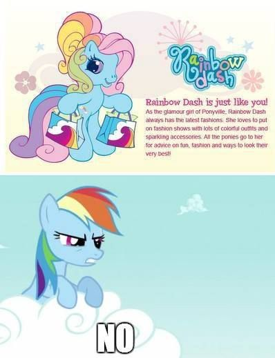 I know that the top one is the original, but there's no question; I like the new My Little Pony so much better♡