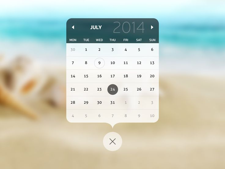 Calendar Popup by Rohit Sharma