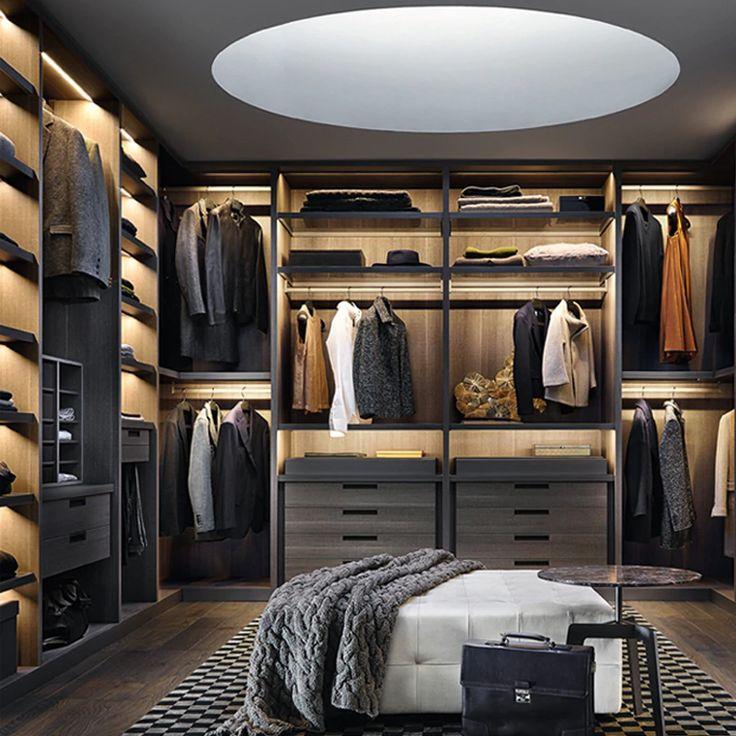 modernes design schlafzimmer möbel flat pack offene tür ...