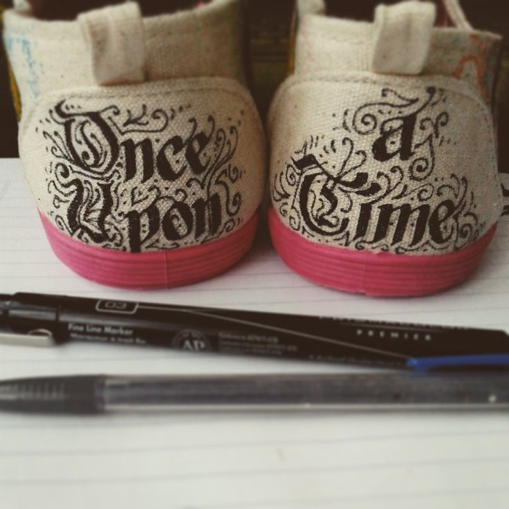 The back of the Disney princesses themed shoes. #onceuponatime #calligraphy #writing #art #artist #fauvebcreations #fauve #drawing #shoeart #handmade #diy  Visit www.facebook.com/fauvebcreations for more artwork!