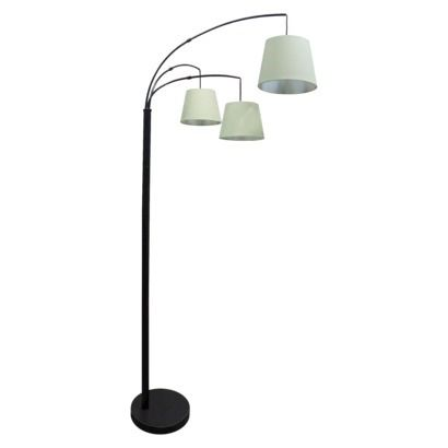 threshold 3 arm arc floor lamp includes cfl bulbs. Black Bedroom Furniture Sets. Home Design Ideas