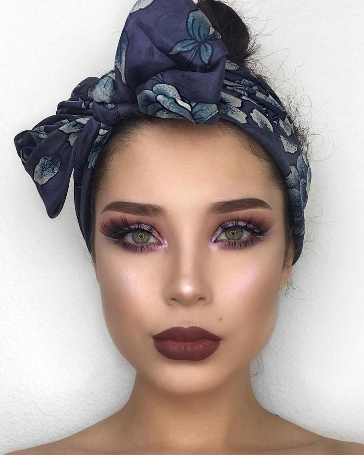 "13.4k Likes, 89 Comments - Lupe Sujey Cuevas   Dallas (@lupescuevas) on Instagram: ""Light purple eyeliner  ""Sugar Rush"" @nyxcosmetics  Lips Labios ""Kawkwind"" lip liner @katvondbeauty…"""