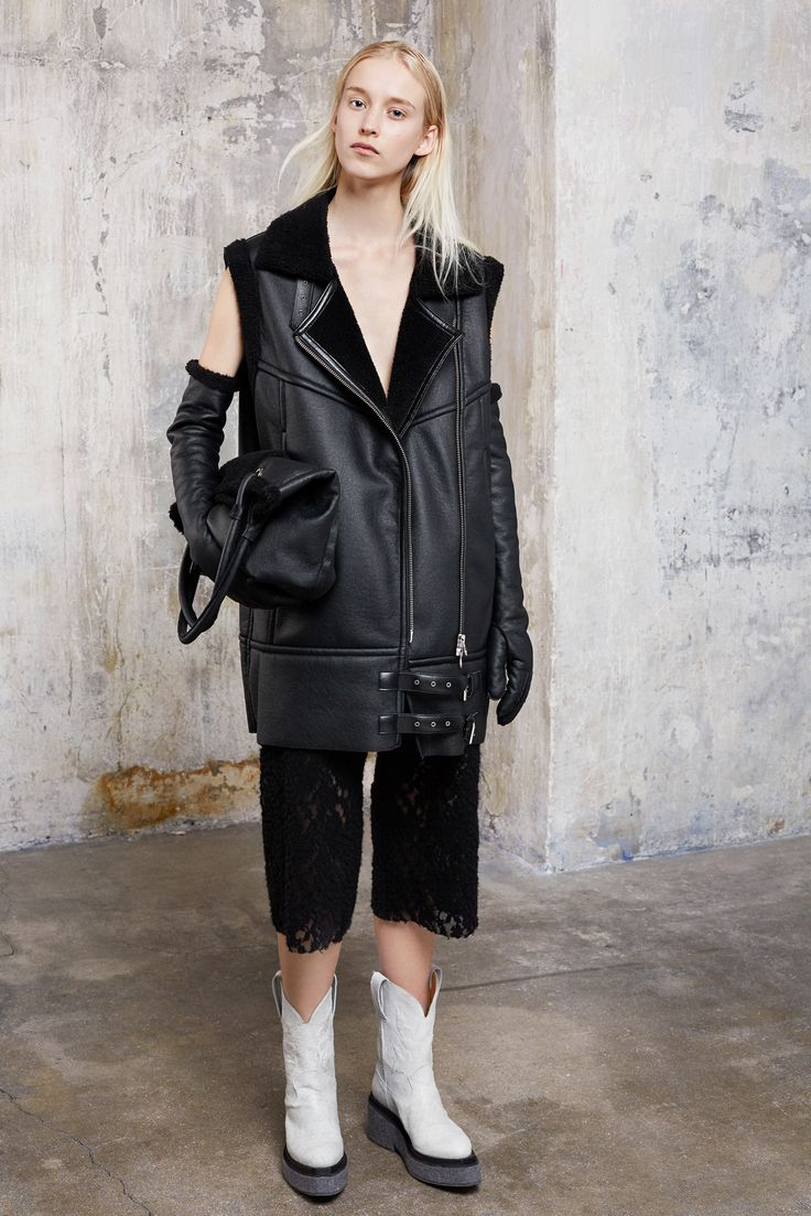 MM6 Faux Shearling Leather Vest