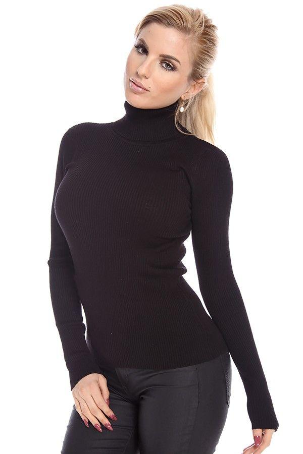 Winter women's furry turtleneck long sleeve warm sweater dress