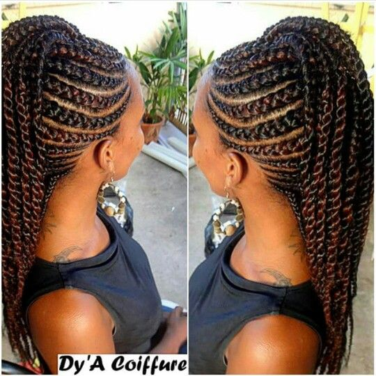 I love these braids and twist combo