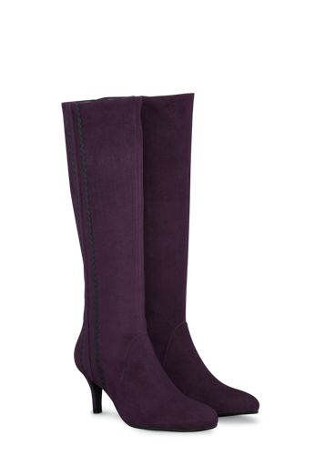 Boots in up to 21 calf sizes & shoes and ankle boots in 3 widths. Style is nothing without fit. add bijoux for evening