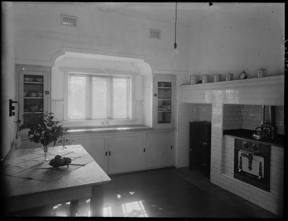 Kitchen interior brick and tile house 1932 State Library of WA 101835PD