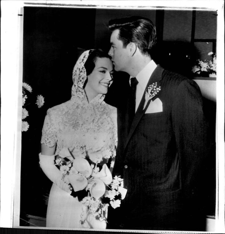 1957 Natalie Wood Wedding to Robert Wagner Press Photo