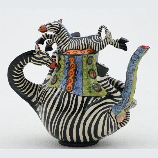 OCT139 Zebra Teapot -Ardmore Ceramics