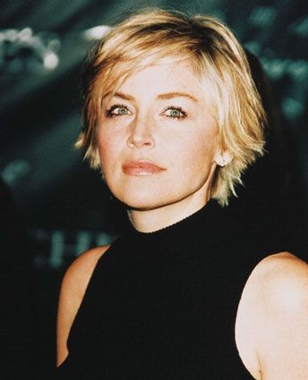 Sharon Stone, good shaggy pixie