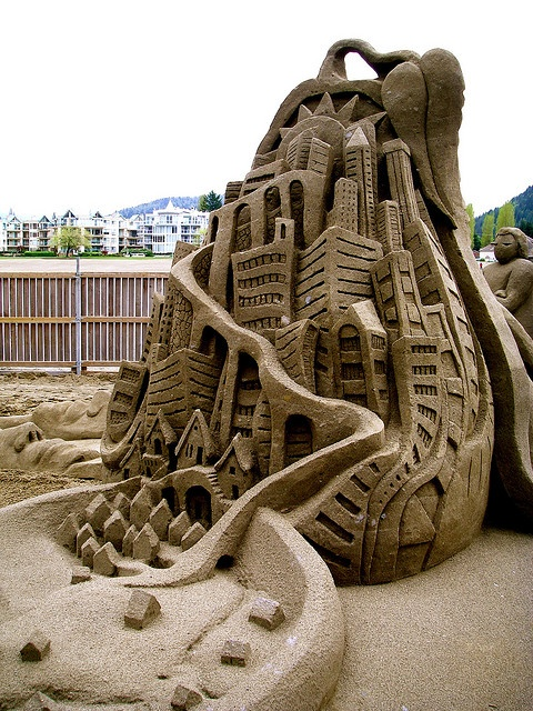Curvy Castle Sand sculpture. Just because of the way the artist used the medium and how it could be made into such a large sculpture is amazing