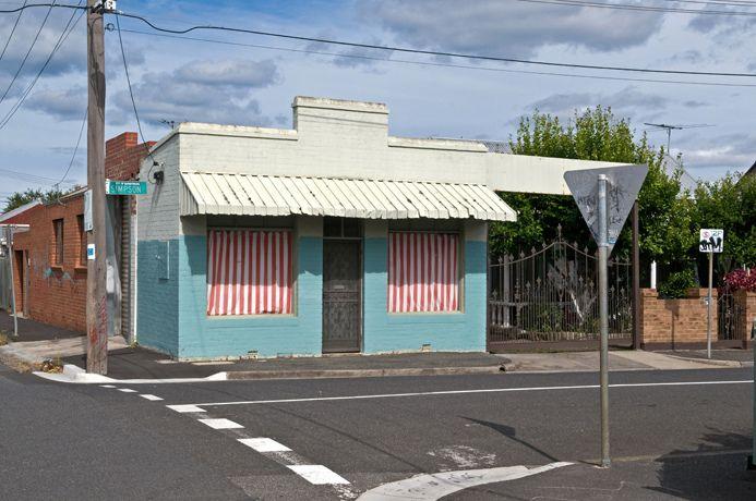 Yarraville corner shop. Photographer Warren Kirk documents Melbourne's suburbs.