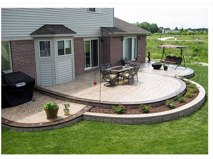 how to pour a suspended concrete patio