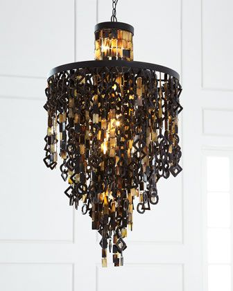 Zara horn chandelier by regina andrew design at