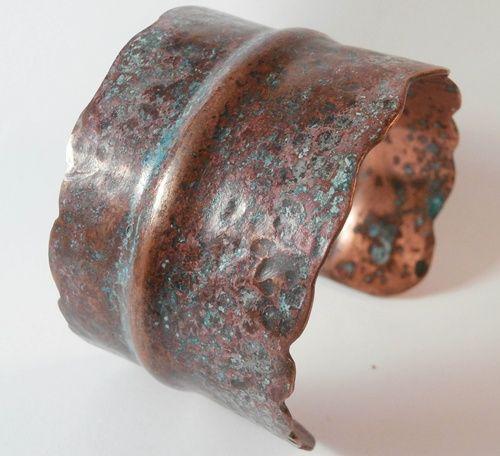 Handmade Copper Jewelry / Fold Formed Copper Cuff Bracelet | zoomgraphik - Jewelry on ArtFire