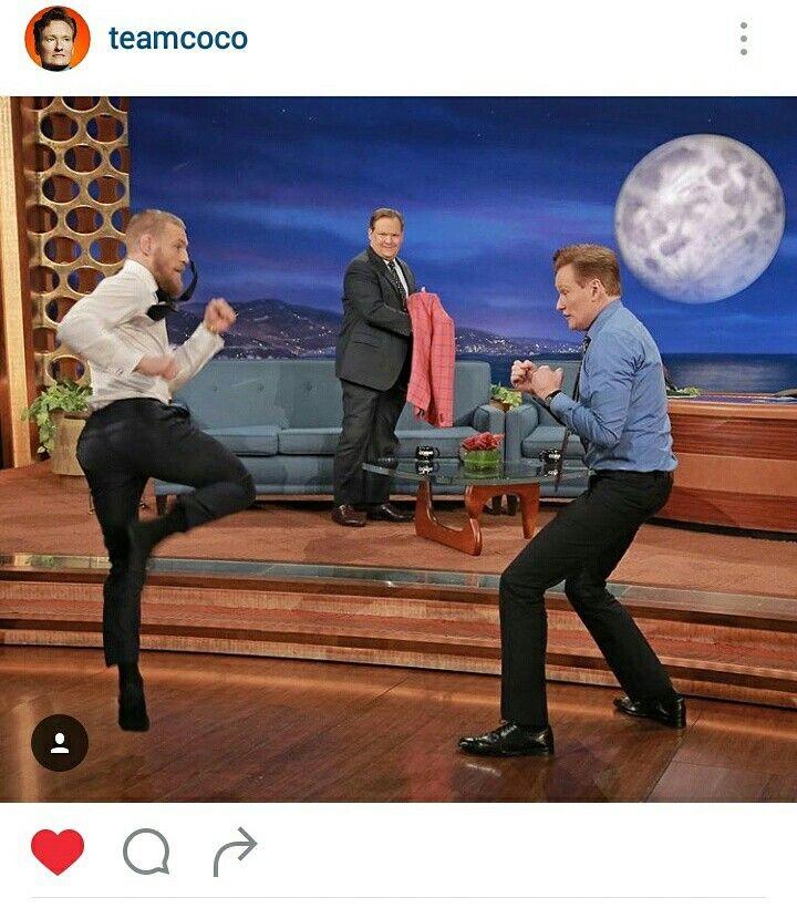 Conor McGregor Demos His Capoeira Kick On Conan O'Brien