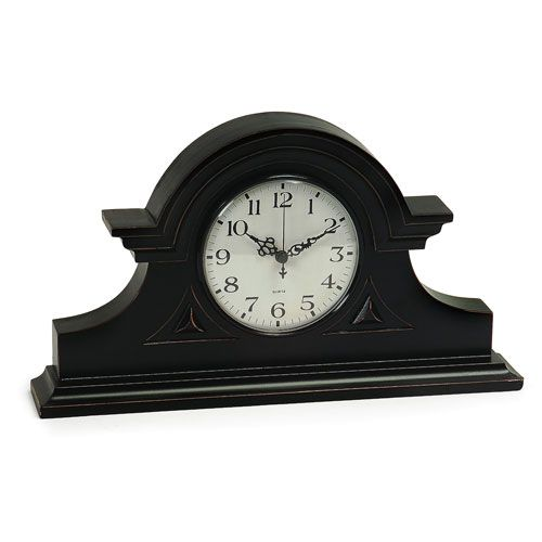 Black Mantel Clock Imax Desk & Alarm Clocks Home Decor