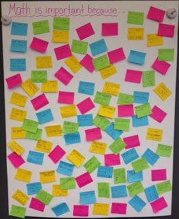 Reasons why math is important... nice first day activity.