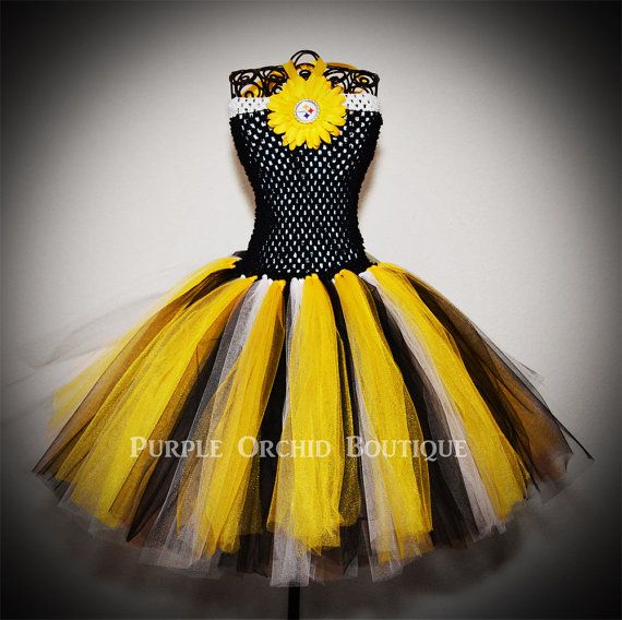Pittsburgh Steelers Inspired NFL Tutu by PurpleOrchidBoutique, $30.00