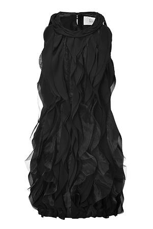 Steffen Schraut Black Ruffled Dress