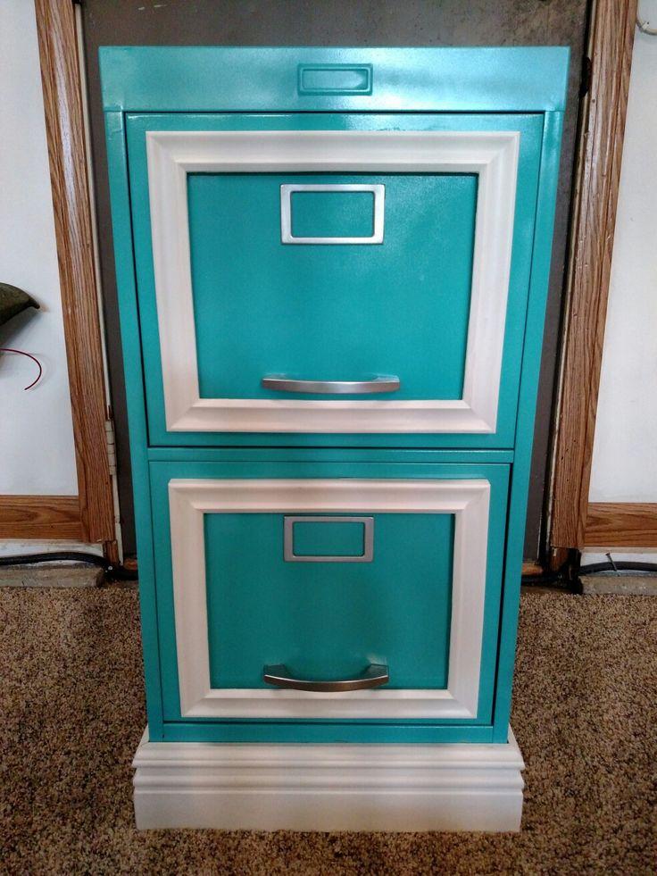Thrift store file cabinet etc redo