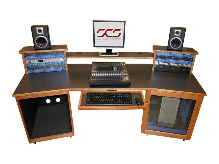 SCS Digistation Recording Studio Desks have a continuous ...