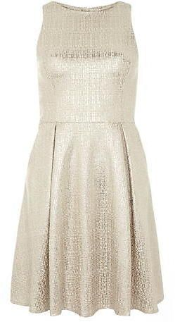 Dorothy Perkins gold shimmer prom dress