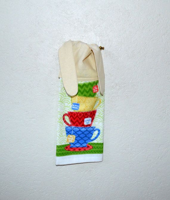 Amazing Kitchen Hand Towel Tea Cup Towel Hand Towel Tie By SuesAkornShop,