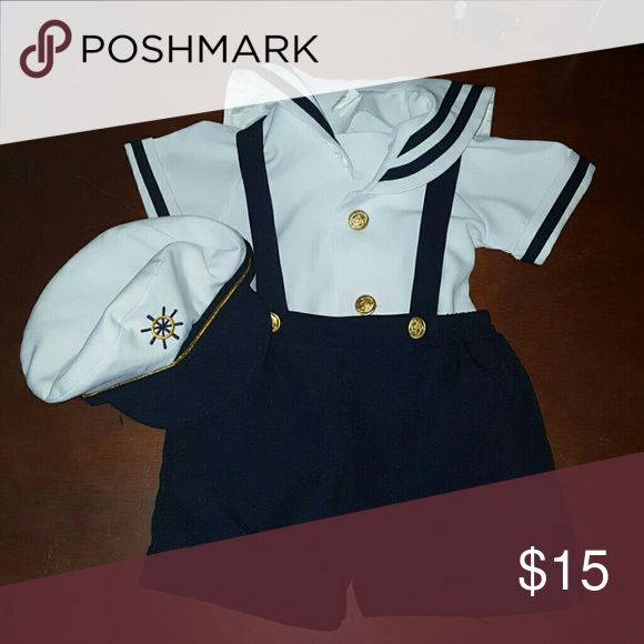 Sailor outfit/costume Super adorable sailor outfit in excellent condition  fits 12-18 months and doesnt have to be just for Halloween Costumes Halloween