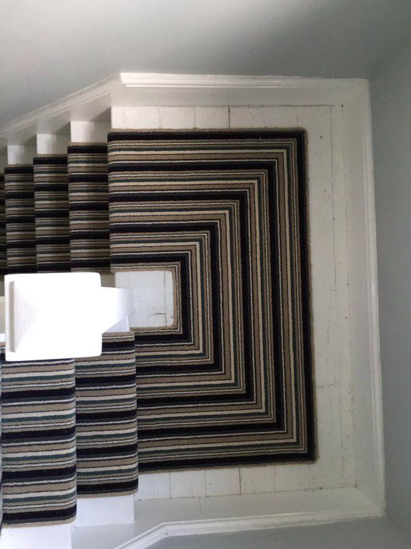 A stunning Kingsmead carpet fitted on the stairs by F4 Flooring Ltd.