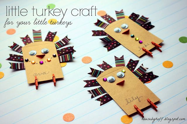 Little Turkey Craft - fun Thanksgiving craft the kids can help with!