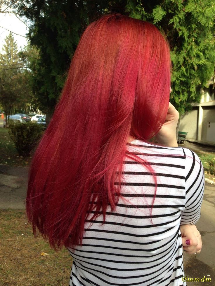 back, girl, red, redhair, redhead, long hair, stripes, striped shirt, nature, light, pretty, color