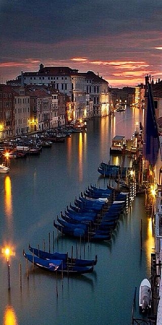 The Beautiful Grand Canal at Sunset, Venice, Italy