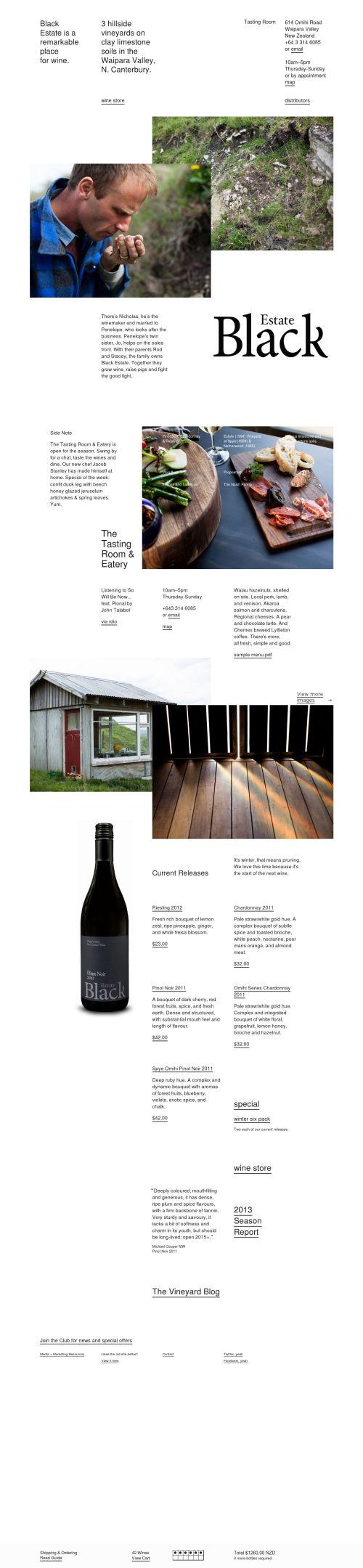 Delectable - Contemporary web design database – Black Estate